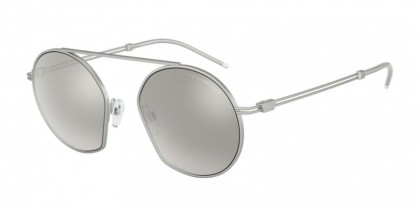 Emporio Armani 0EA2078 30456G Matte Silver - Light Grey Mirror Silver 80