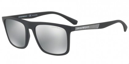 Emporio Armani 0EA4097 5042Z3 Matte Black - Light Grey Mirror Silver Polarized