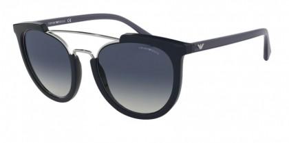 Emporio Armani 0EA4122 57221G Dark Jeans - Grey Grad Blue Mirror Silver