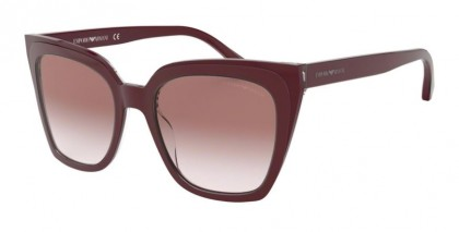 Emporio Armani 0EA4127 57448D Trilayer Crystal Bordeaux - Clear Gradient Pink