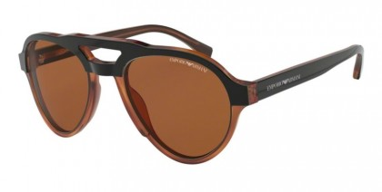 Emporio Armani 0EA4128 574273 Top Matte Black On Yellow Tort - Brown