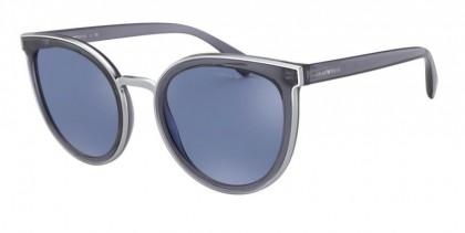 Emporio Armani 0EA4135 57681U Transparent Jeans - Light Blue Mirror Silver