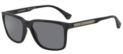 Emporio Armani MODERN (AR) 0EA4047 506381 Black Rubber - Grey Polarized