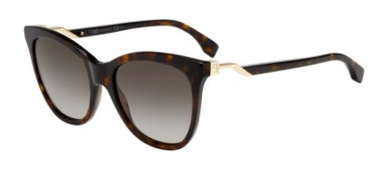 Fendi FF 0200/S 086 (HA) Havana - Brown Shaded