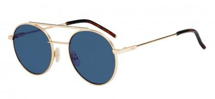 Fendi FF 0221/S 000/KU Rose Gold - Blue