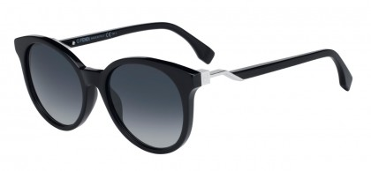 Fendi FF 0231/S 807/9O Black Silver - Grey Blue Shaded