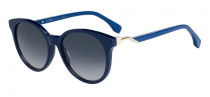 Fendi FF 0231/S PJP/9O Blue Pale Gold - Grey Shaded