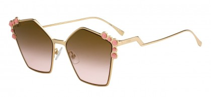Fendi FF 0261/S 000 (53) Copper Gold - Brown Rose Gradient