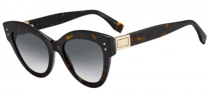 Fendi FF 0266/S 086 (9O) Dark Havana - Dark Grey Gradient