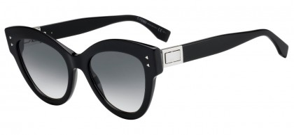 Fendi FF 0266/S 807 (9O) Black - Dark Grey Gradient