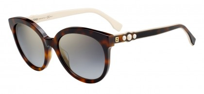 Fendi FF 0268/S 086 (FQ) Dark Havana - Grey Gradient Mirror