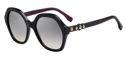 Fendi FF 0270/S 807 (OE) Black - Pink Gradient Mirror