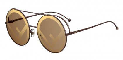 Fendi FF 0285/S 09Q (EB) Brown - Brown Mirror Gold
