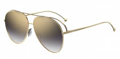 Fendi FF 0286/S J5G (FQ) Gold Yellow - Grey Gradient Gd Mirror