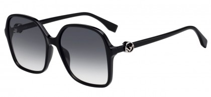 Fendi FF 0287/S 807 (9O) Black - Gray Gradient