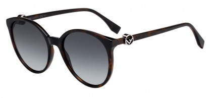 Fendi FF 0288/S 086 (9O) Dark Havana - Gray Gradient