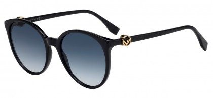 Fendi FF 0288/S 807 (08) Black - Gray Blue Gradient