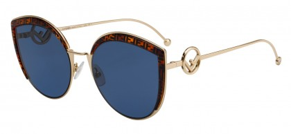 Fendi F IS FENDI FF 0290/S J5G/KU Gold - Blue