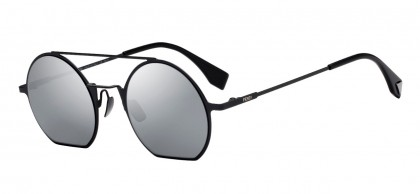 Fendi FF 0291/S 807 (T4) Black - Gray Flash Mirror