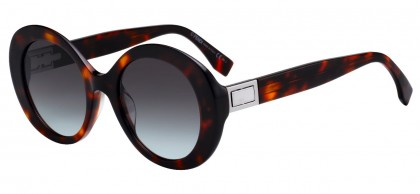 Fendi FF 0293/S 086 (IB) Dark Havana - Gray Double Gradient