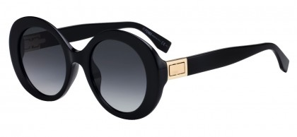 Fendi FF 0293/S 807 (9O) Black - Gray Gradient