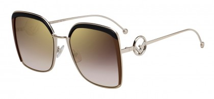 Fendi FF 0294/S 09Q (JL) Brown - Brown Gradient Mirror