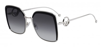 Fendi FF 0294/S 807 (9O) Black - Gray Gradient
