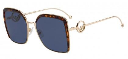 Fendi F IS FENDI FF 0294/S J5G/KU Gold - Blue