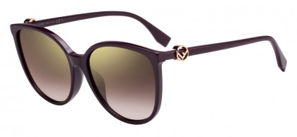 Fendi FF 0310/F/S 0T7 (JL) Violet - Brown Gold Gradient Mirror