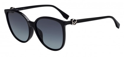 Fendi FF 0310/F/S 807 (9O) Black - Gray Gradient
