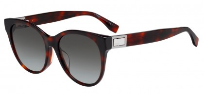 Fendi FF 0311/F/S 086 (HA) Dark Havana - Brown Gradient
