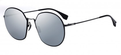Fendi FF 0313/F/S 807 (T4) Black - Gray Flash Mirror