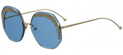 Fendi GLASS FF 0358/S MVU/KU Azure - Blue