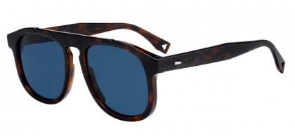Fendi FF M0014/S 086 (KU) Dark Havana - Blue