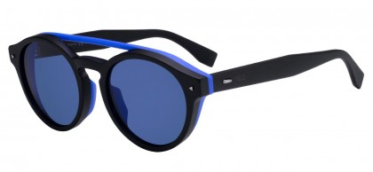 Fendi FF M0017/F/S 807 (KU) Black - Blue