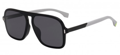 Fendi FF M0066/F/S 807/IR Black - Dark Grey
