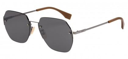 Fendi EYELINE FF M0067/F/S 807/T4 Black - Grey