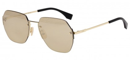 Fendi EYELINE FF M0067/F/S J5G/VP Gold - Gold Brown