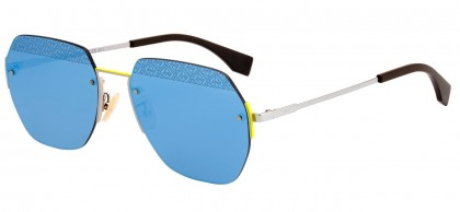 Fendi EYELINE FF M0067/F/S MVU/3J Ruthenium - Light Blue
