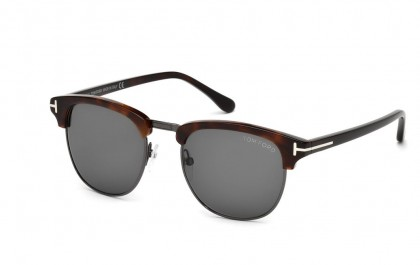 Tom Ford FT0248 52A Dark Havana Ruthenium - Smoke