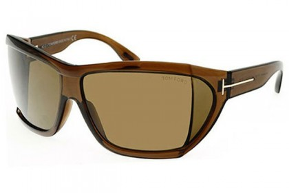 Tom Ford FT0402 SEDGEWICK 48E Shiny Brown - Olive Green