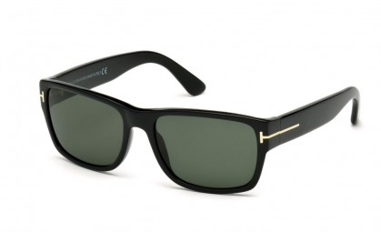 Tom Ford FT0445 01N Shiny Black - Green