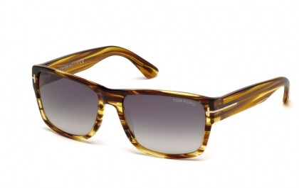 Tom Ford FT0445 50B Dark Brown - Smoke Gradient