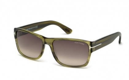 Tom Ford FT0445 95K Light Green Olive - Roviex Gradient