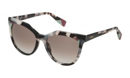 Furla SFU231 0M65 Havana White Black Shiny - Brown Gradient Blue