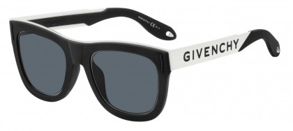 Givenchy GV 7016/N/S 80S (IR) Black White - Grey Blue