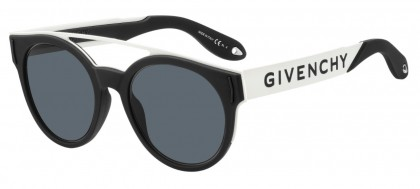 Givenchy GV 7017/N/S 80S (IR) Black White - Grey Blue