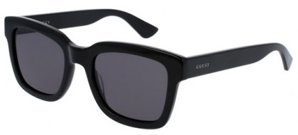 Gucci GG0001S-001 Black Black - Shiny Smoke