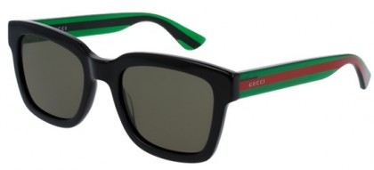 Gucci GG0001S-002 Black Green - Shiny Green