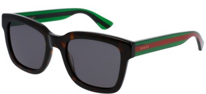 Gucci GG0001S-003 Havana Green - Shiny Grey